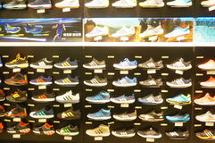 The shoe store display shoes Royalty Free Stock Photography