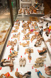 Shoe store on Ermou Street in Athens. Greece. Royalty Free Stock Photography