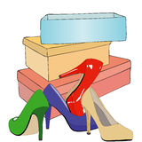 In a shoe store Royalty Free Stock Image