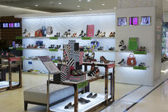 Shoe store of meisui mall Royalty Free Stock Photos