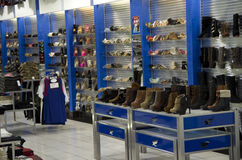 Shoe store royalty free stock photography
