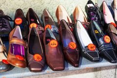A shoe store Royalty Free Stock Images