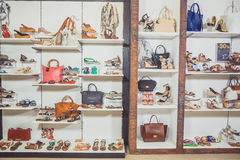 Shoe store Stock Images