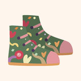 Shoe style theme elements vector,eps. Vector illustration file Royalty Free Stock Photos