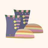 Shoe style theme elements vector,eps. Vector illustration file Stock Images