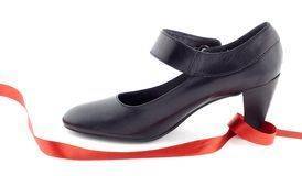 Shoe and tape Stock Photography