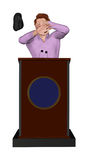 Shoe Throwing Incident Speaker Podium Illustration Stock Photography