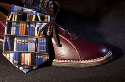 Shoe and tie - RAW format Royalty Free Stock Image