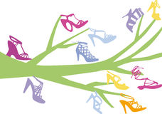 Shoe tree. Vector background design Stock Photography