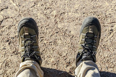 Shoe with Trekking Shoe Royalty Free Stock Images