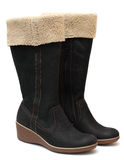 Shoe - two winter boots Royalty Free Stock Photo