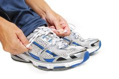 Shoe Tying Royalty Free Stock Photo