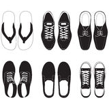 Shoe vector set Royalty Free Stock Photo