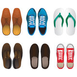 Shoe vector set Stock Photography