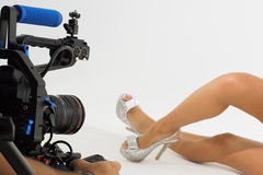 Shoe video shoot Stock Photography