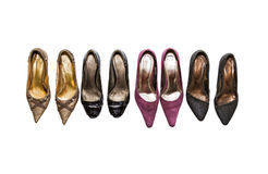 The shoe on white isolate with clipping path. Stock Photography