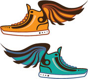 Shoe Wing. Fast. Royalty Free Stock Photo