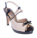 Shoe. woman sandal on a background. Shoe. woman sandal on background Royalty Free Stock Photo