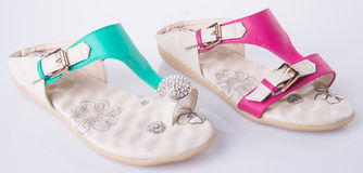 Shoe. woman sandal on a background. Shoe. woman sandal on background Royalty Free Stock Photography