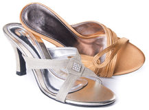 Shoe. woman sandal on a background. Shoe. woman sandal on background Royalty Free Stock Image