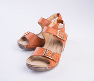 Shoe or woman sandal on a background. Shoe or woman sandal on a background Stock Images