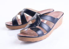 Shoe or woman sandal on a background. Shoe or woman sandal on a background Royalty Free Stock Photo