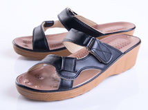 Shoe or woman sandal on a background. Shoe or woman sandal on a background Stock Photography