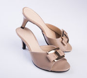Shoe or woman sandal on a background. Shoe or woman sandal on a background Royalty Free Stock Image