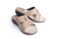 Shoe. woman sandal on background. woman sandal on a background. Shoe. woman sandal on background. woman sandal on a background Stock Image