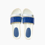 Shoe. woman sandal on white background Stock Photography