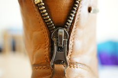 Shoe zipper Stock Images