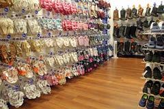 Shoe zone shop Stock Photography