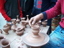 Pottery maker Royalty Free Stock Image