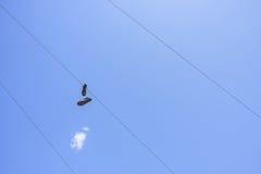 Shoefiti Photo libre de droits