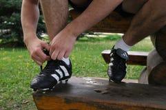 shoelace Royaltyfri Fotografi