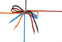 Shoelace with bow Stock Photo