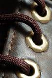 Shoelace macro Royalty Free Stock Image