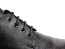Shoelace on shoe closeup Royalty Free Stock Images