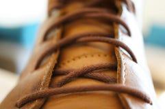 shoelaces Arkivbilder