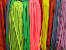 Shoelaces. A lot of color shoelaces for footwear Royalty Free Stock Photo