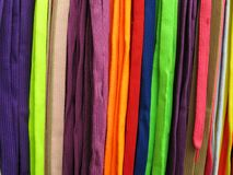 Shoelaces all colors. Shoelaces, which are also called shoestrings, shoe laces, or boot laces, are a system, commonly consisting of pairs, used to secure shoes stock images