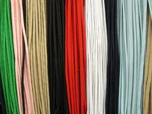 Shoelaces all colors Royalty Free Stock Photo