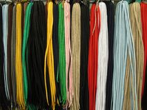 Shoelaces all colors Royalty Free Stock Photography