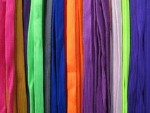 Shoelaces all colors colorful Royalty Free Stock Photo