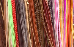 Shoelaces all colors - shoestrings Royalty Free Stock Photography