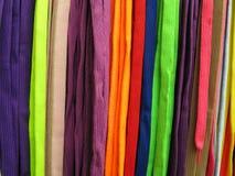 Shoelaces alla färger Arkivbilder