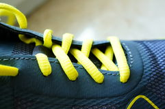 Shoelaces close-up Stock Photography