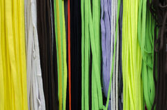 Shoelaces. Colorful shoelaces in the market place Stock Photos