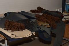 Shoelaces i skóra zdjęcie stock