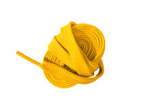 Shoelaces isolated on a white background. Shoelaces on a white background royalty free stock photos
